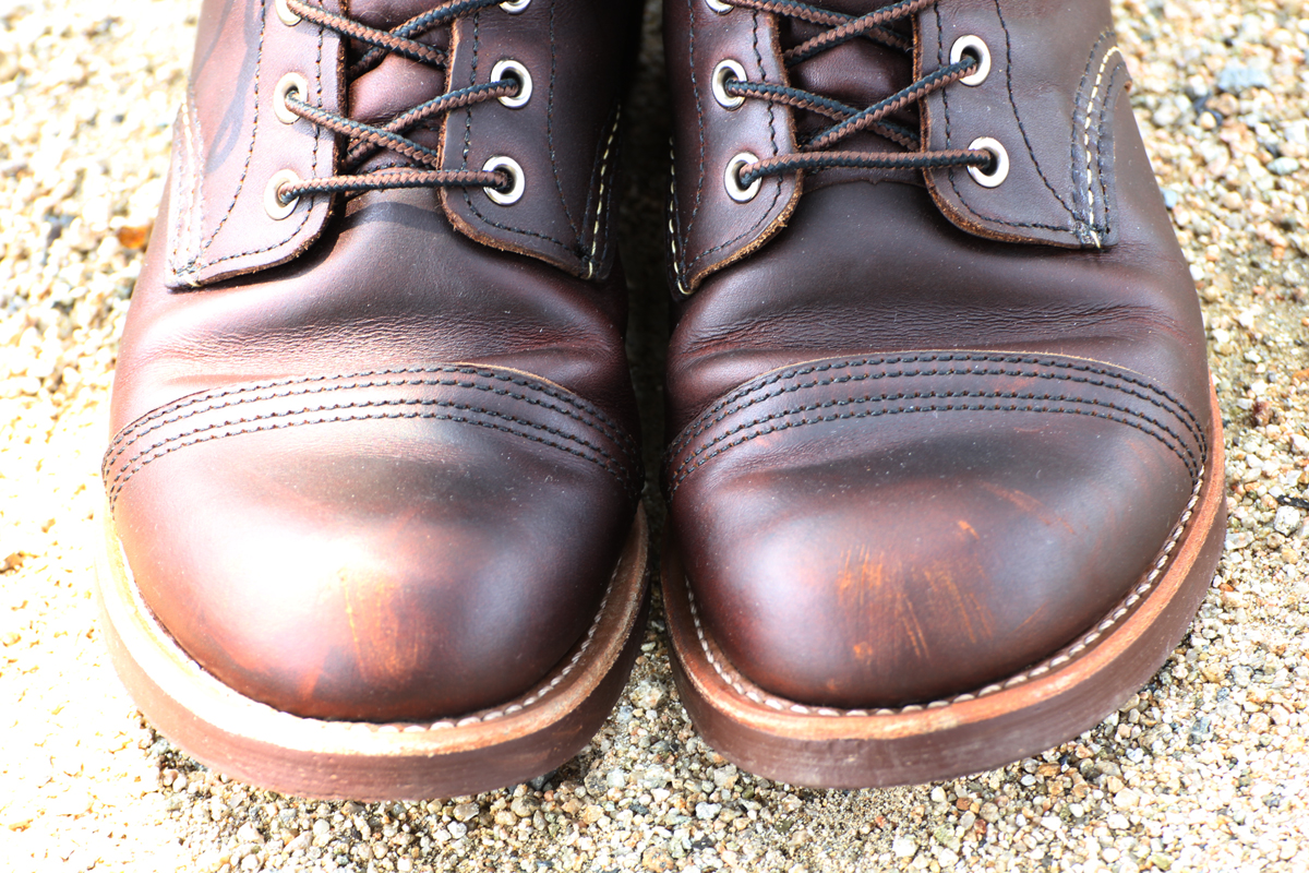Heritage Archives Cut Engineer Classic Shoes Iron Safety Boots Leather Dark Brown Red Wing 8111 Ranger
